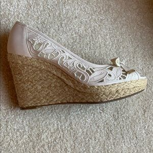 Beige kelly&katie Wege Shoes with Rope Bottom